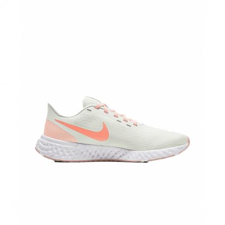 Dámská sportovní obuv (tréninková) NIKE-WMNS Revolution 5 summit white / orange pearl / crimson bliss