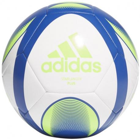 Futbalová lopta ADIDAS-STARLANCER PLUS WHITE/ROYBLU/TMSOGR