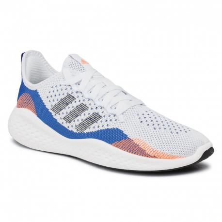 Pánska športová obuv (tréningová) ADIDAS-Fluidflow 2.0 cloud white/core black/royal blue