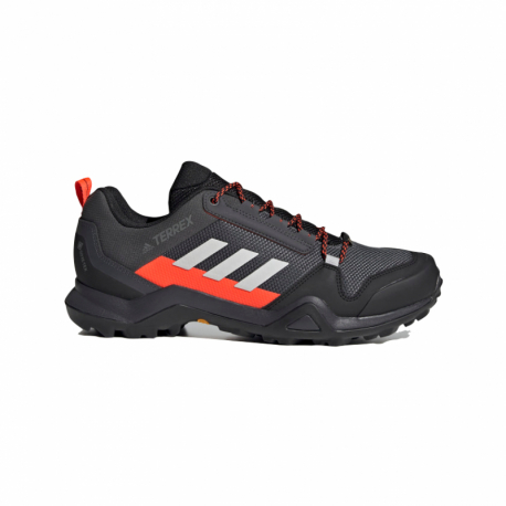 Pánská nízká turistická obuv ADIDAS-Terrex AX3 GTX solid grey / grey one / solar red (EX)