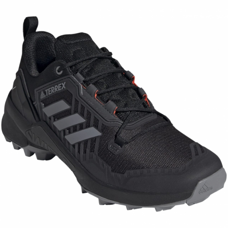 Pánská nízká turistická obuv ADIDAS-Terrex Swift R3 GTX core black / grey one / solar yellow