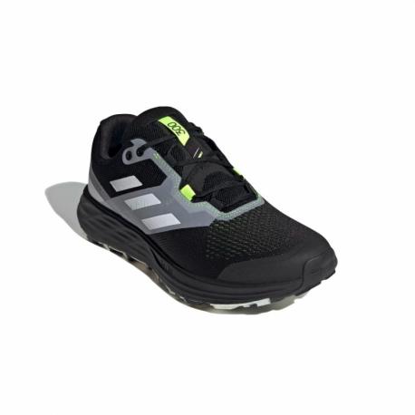 Pánska bežecká trailová obuv ADIDAS-Terrex Two Flow core black/crystal white/solar yellow