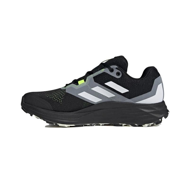 Pánska bežecká trailová obuv ADIDAS-Terrex Two Flow core black/crystal white/solar yellow (EX) -