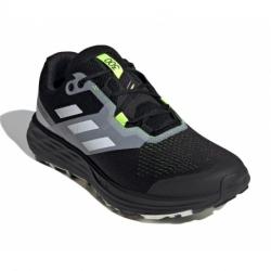 Pánska bežecká trailová obuv ADIDAS-Terrex Two Flow core black/crystal white/solar yellow (EX)