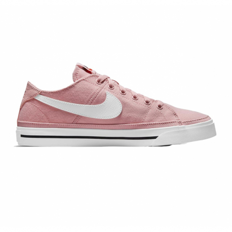 Dámská rekreační obuv NIKE-WMNS Court Legacy Canvas pink glaze / black / team orange / white