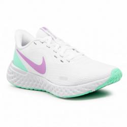 Dámska športová obuv (tréningová) NIKE-Revolution 5 white/violet shock/green glow