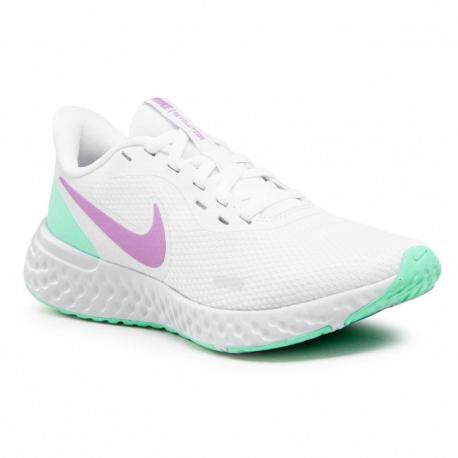 Dámská sportovní obuv (tréninková) NIKE-Revolution 5 white / violet shock / green glow