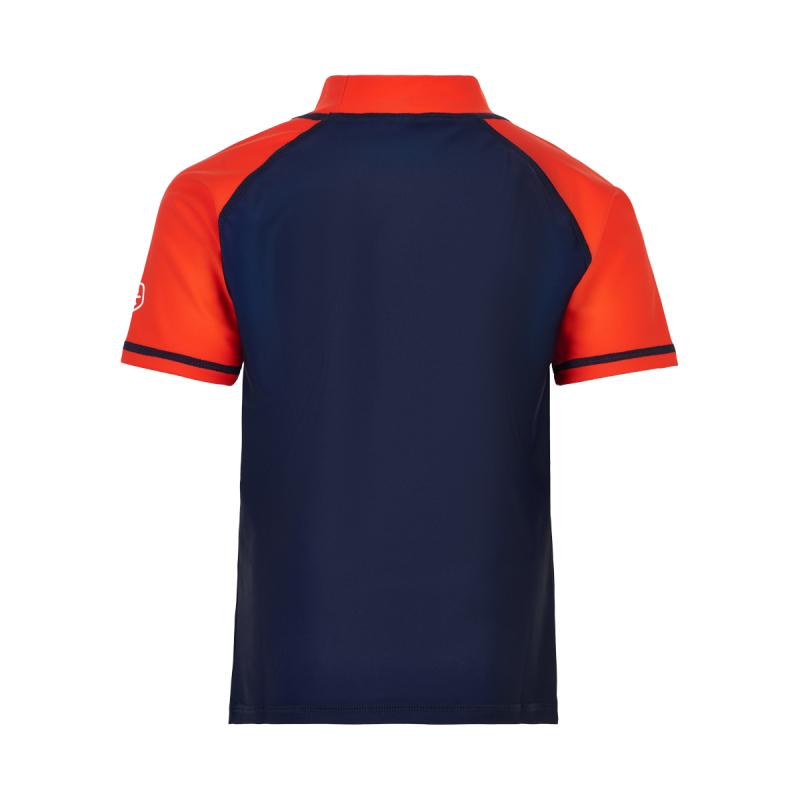 Chlapčenské tričko na kúpanie COLOR KIDS-T-shirt w. print UPF 40+ Dress Blues -