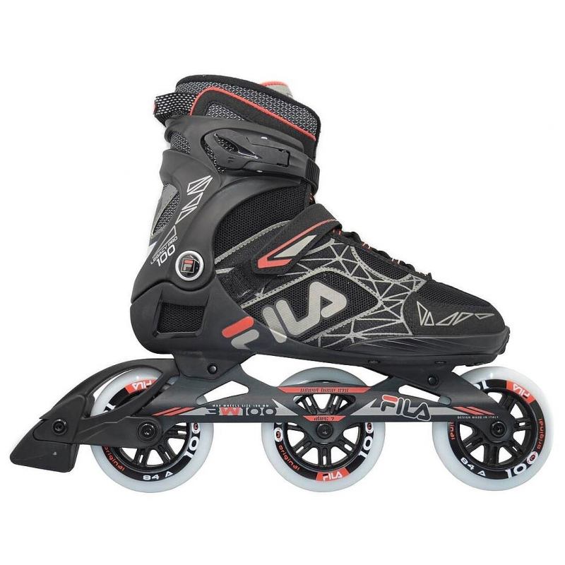 Kolieskové korčule FILA SKATES-LEGACY PRO 100 BLACK/RED -