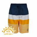 Chlapčenské plavky COLOR KIDS-Swim shorts stripes UPF 30+ Saffron -