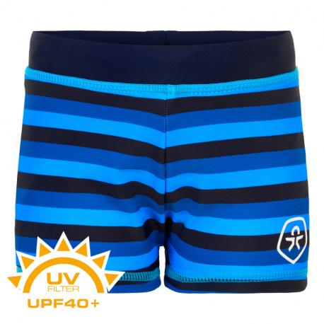 Chlapecké plavky COLOR KIDS-Swim trunks AOP UPF 40+ Dress Blues