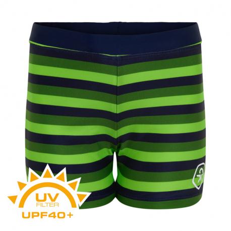 Chlapčenské plavky COLOR KIDS-Swim trunks AOP UPF 40+ Jasmine Green