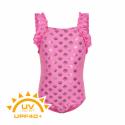 Dievčenské plavky COLOR KIDS-Swimsuit w. frills UPF 40+ Sugar Pink -