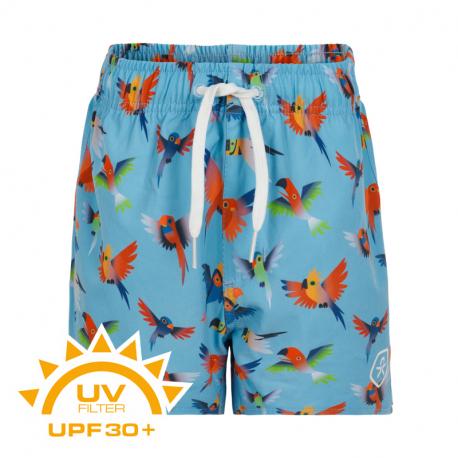 Chlapčenské plavky COLOR KIDS-Swim shorts short AOP UPF 30+ Blue Fish