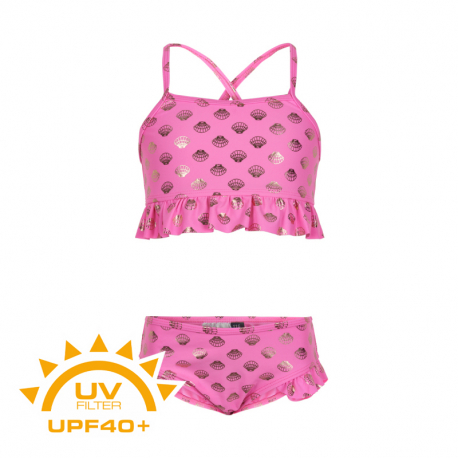Dievčenské plavky COLOR KIDS-Bikini w. frills UPF 40+ Sugar Pink
