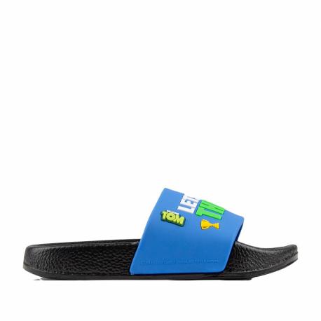 Detská obuv k bazénu (plážová obuv) COQUI-Ruki TT&F black/royal