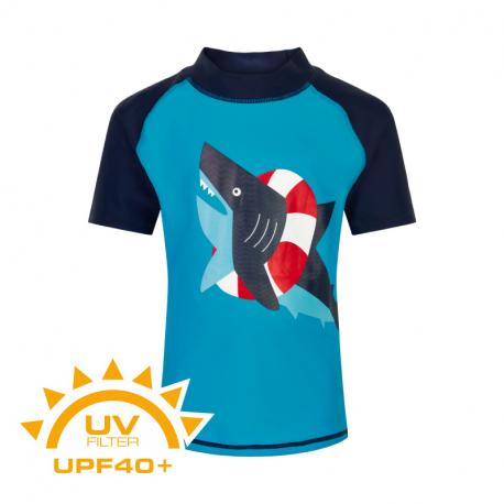 Chlapčenské tričko na kúpanie COLOR KIDS-T-shirt w. print UPF 40+ Hawaiian Ocean