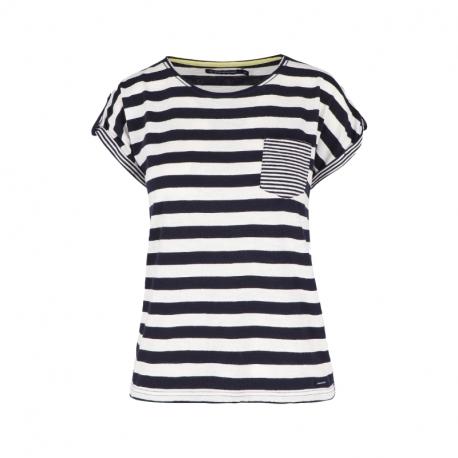 Dámské triko s krátkým rukávem VOLCANO-T-BALTIC-NAVY