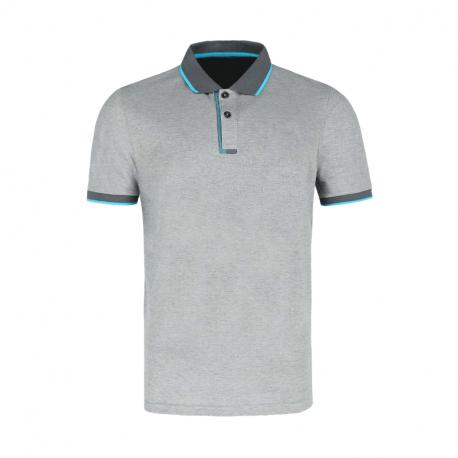 Pánské polo tričko s krátkým rukávem VOLCANO-T-NAX-GREY MEL