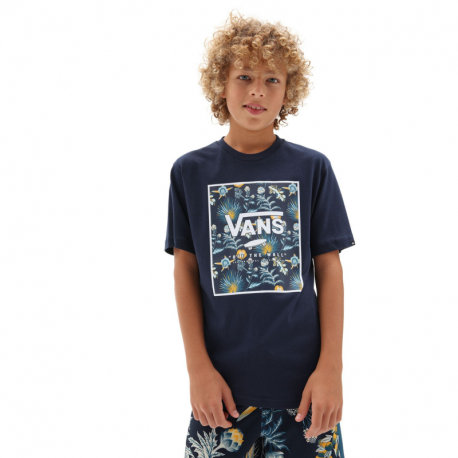 Chlapecké tričko s krátkým rukávem VANS-BY PRINT BOX BOYS DRESS BLUES / CAL