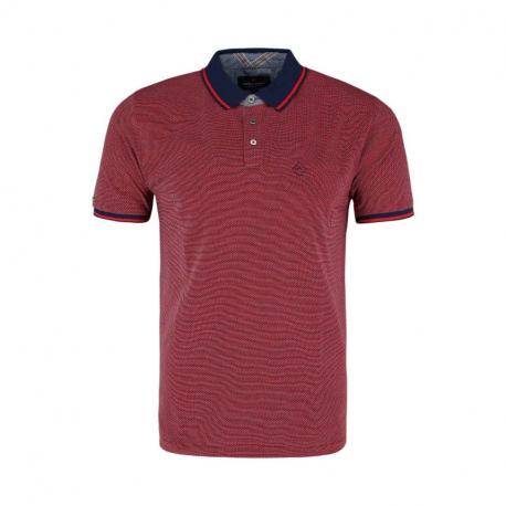 Pánské polo tričko s krátkým rukávem VOLCANO-T-NICK-RED MEL