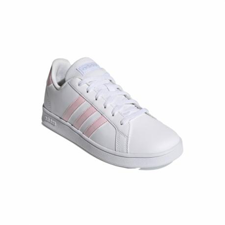Juniorská rekreační obuv ADIDAS-Grand Court cloud white / clear pink / halo blue