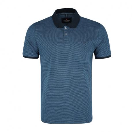 Pánské polo tričko s krátkým rukávem VOLCANO-T-ZELIS-NAVY MEL