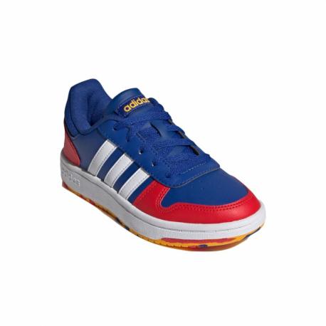 Juniorská rekreační obuv ADIDAS-Hoops 2.0 royal blue / cloud white / vivid red