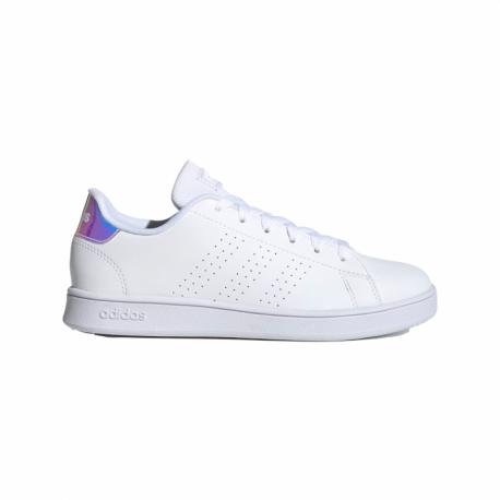 Juniorská rekreační obuv ADIDAS-Advantage cloud white / silver metallic / cloud white