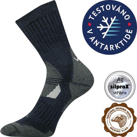 Turistické ponožky VOXX-MERINO Stabil CLIMAYARN-dark blue