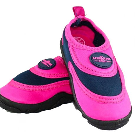 Juniorská obuv do vody AQUALUNG-BEACHWALKER KID PNK NVB Pink