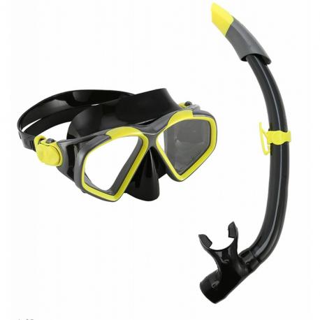 Potápačský/šnorchlovací set AQUALUNG-COMBO HAWKEYE BYW DGY