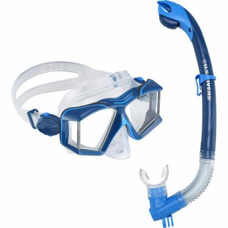 Potápačský/šnorchlovací set AQUALUNG-COMBO SIDEVIEW II BLU NBL