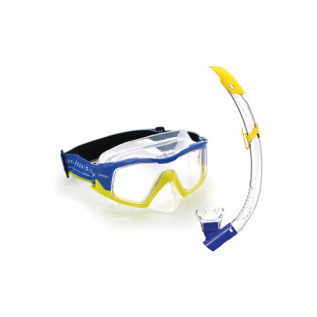 Potápačský/šnorchlovací set AQUALUNG-COMBO VERSA BLU BYW CL