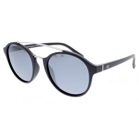 Slnečné okuliare H.I.S. POLARIZED-HPS98108-1, black, smoke with silver mirror POL, 52-21-144