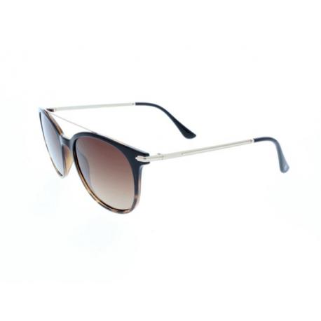 Slnečné okuliare H.I.S. POLARIZED-HPS98101-2, brown, brown gradient with silver flash POL