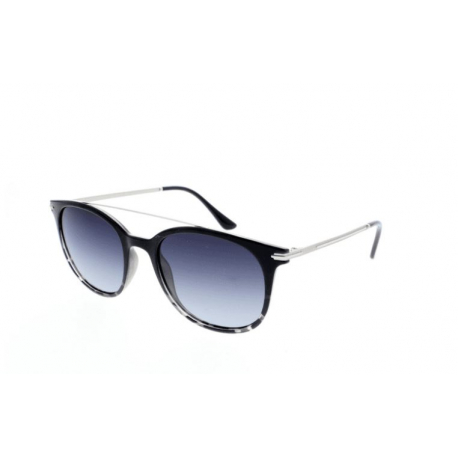 Slnečné okuliare H.I.S. POLARIZED-HPS98101-1, black, smoke gradient with silver flash POL