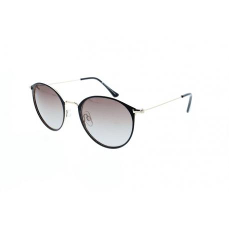 Slnečné okuliare H.I.S. POLARIZED-HPS94106-2, black, brown gradient with silver flash POL