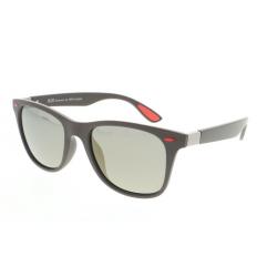 Slnečné okuliare H.I.S. POLARIZED-HPS08115-3, dark brown, smoke with gold flash POL, 52-21-143