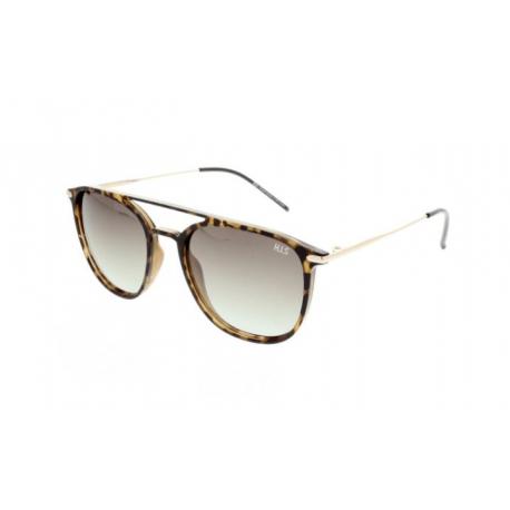 Slnečné okuliare H.I.S. POLARIZED-HPS08104-3, demi brown, green gradient POL, 53-19-140