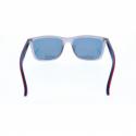Slnečné okuliare H.I.S. POLARIZED-HPS88119-1, grey, smoke with red mirror POL, 54-17-144 -