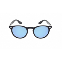 Slnečné okuliare H.I.S. POLARIZED-HPS08118-2, dark blue, smoke with blue flash POL, 48-21-144 -