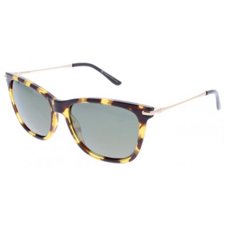 Slnečné okuliare H.I.S. POLARIZED-HPS88104-2, brown, green with gold flash POL, 56-16-140