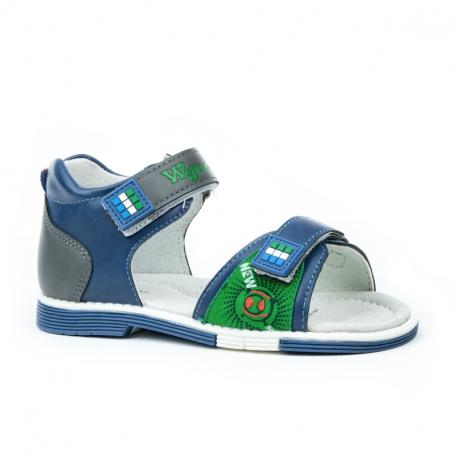 Detské sandále WOJTYLKO-Carnhall blue/green