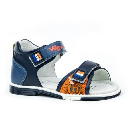 Dětské sandály WOJTYLKO-Carnhall blue / orange