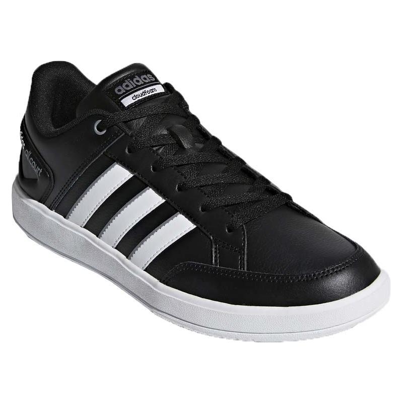 ADIDAS-Cloadfoam All Court leather black 46 Čierna