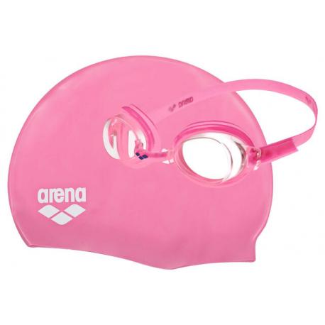 Juniorské plavecký set čiapka a okuliare ARENA-Arena Pool set Jr. Pink