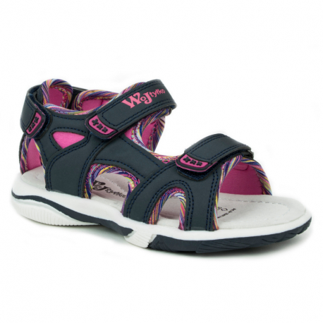 Dětské sandály WOJTYLKO-Gwinear blue / pink