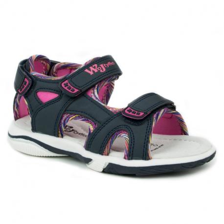 Detské sandále WOJTYLKO-Mawia blue/pink