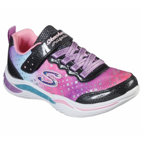 Detská rekreačná obuv SKECHERS-Power Petals Painted Daisy black/multi